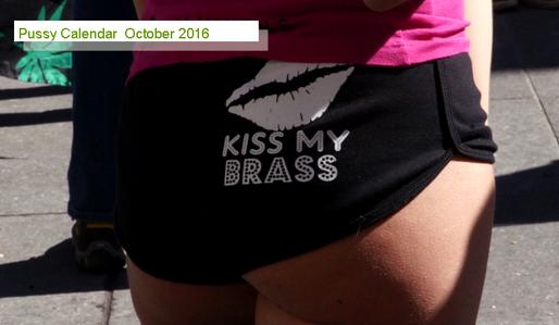 Pussy Calendar October 2016