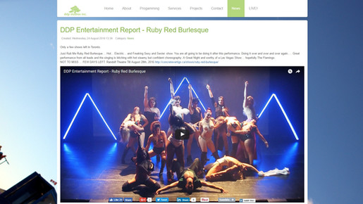 DDP Entertainment Report - Ruby Red Burlesque