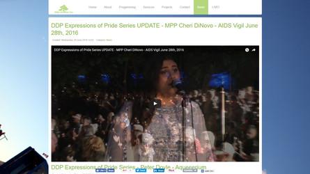 DDP Expressions of Pride Series UPDATE - MPP Cheri DiNovo - AIDS Vigil 06/28/2016