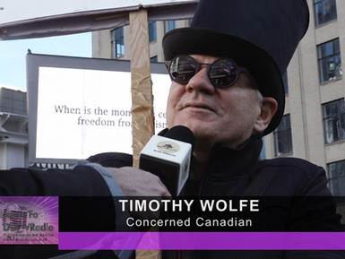 VIP Interview with Tim Wolfe - Freedom Rally at Dundas Square