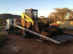 Bobcat coming onto site
