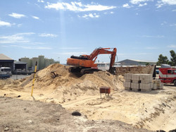 Removal of demolition rubble