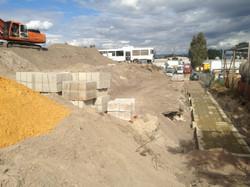 Excavator earthworks