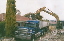 Excavator in progress