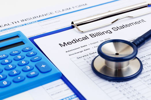 Medical bill and health insurance form w