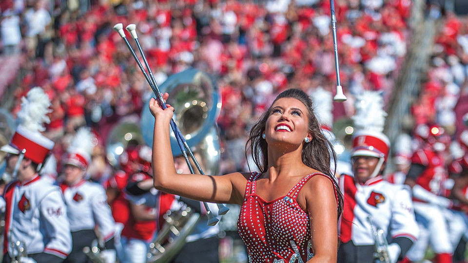 Louisville Feature Twirler Steffany Lien