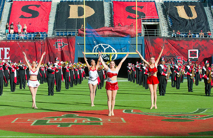SDSU Feature Twirlers