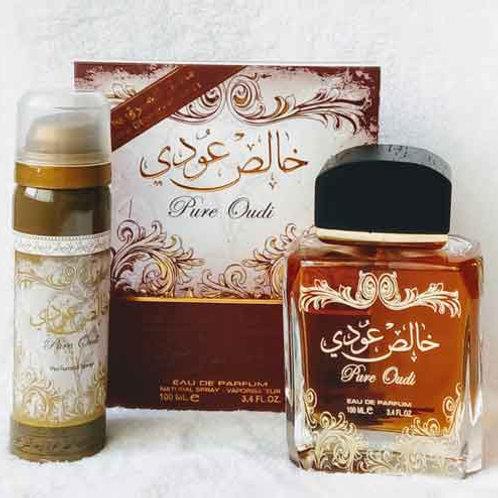 Khalis Oudi (Pure Oudi) Edp Spray With Deo By Lattafa Perfumes $ 45