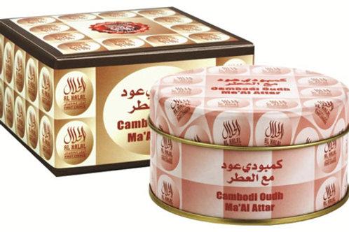 Al Haramain Cambodi Oudh Maa alattar Incense 50 gm