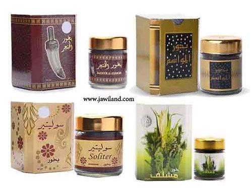 Mix 4 x 50 gm Banafa Oud Incense Mawasim Mushlef AlKhanjar Solit