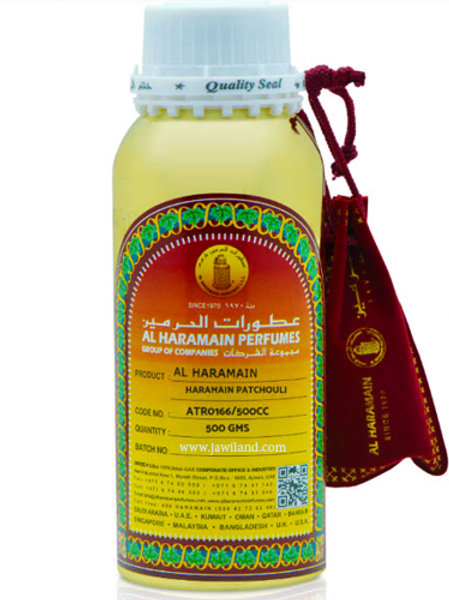 Patchouli Oil 500 gm By Al Haramain Perfumes $ 105