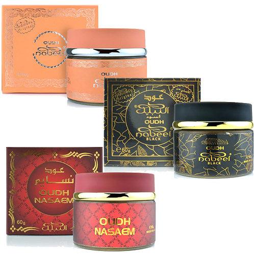 Lot 3 box ( Mix Bakhoor) Nabeel Oudh , Black Oudh, Naseam Oudh
