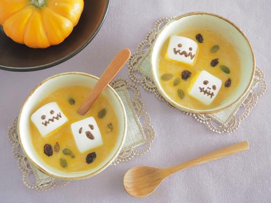 【一汁、一素】ハロウィン気分を盛り上げる♪パンプキンみそスープ