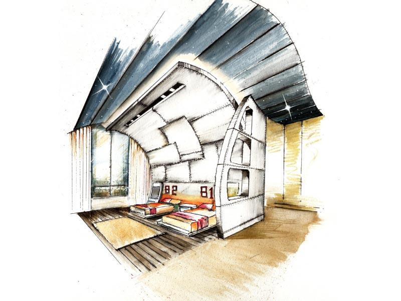 Bedroom Interior Sketch & Concept