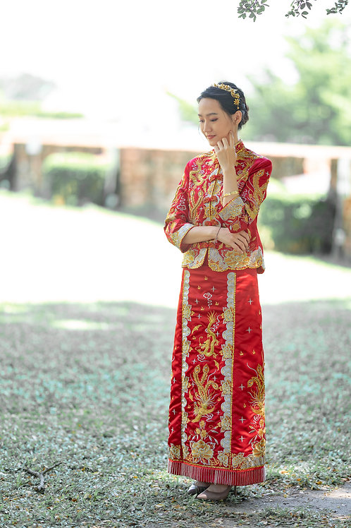 Chinese Traditional Wedding Dress Qua