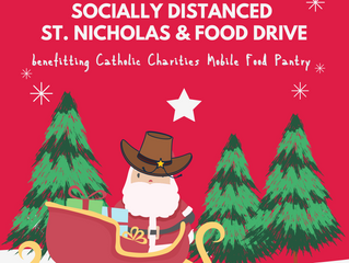 Socially Distanced St. Nicholas and Food Drive