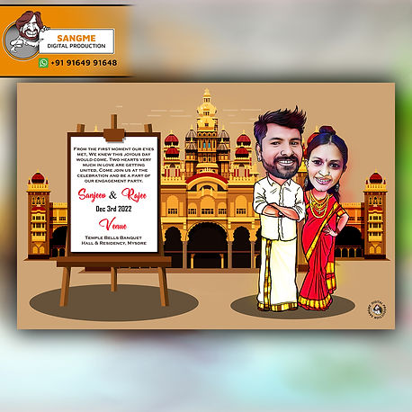 caricature wedding invitations online card artist in Bangalore | Save the date caricature card! | Caricature wedding invitations, Caricature wedding, | wedding caricature | Wedding caricature, Caricature wedding invitations, |wedding invitation_A_00014.jpg