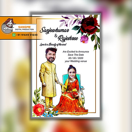 caricature wedding invitations online card artist in Bangalore | Save the date caricature card! | Caricature wedding invitations, Caricature wedding, | wedding caricature | Wedding caricature, Caricature wedding invitations,  | wedding invitation_A_01.jpg