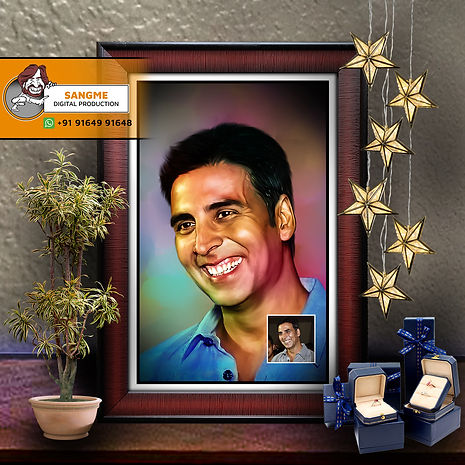 Digital Oil Painting | personalized digital painting | Customised Oil Painted Photo Frame | Personalized Gift Digital Painting Portrait Made by Real Artists from Photo | Personalized Photo to Art Transformations | Customized Advanced Digital Art Painting - Best for Gifting & Room Decorations | Custom Digital Portrait Painting | digital painting.jpg