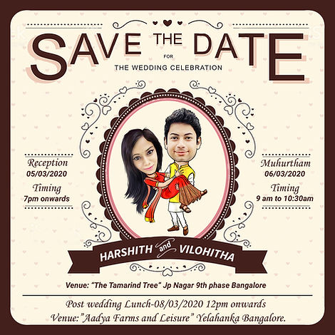 cartoons caricature wedding invitations online card artist in Bangalore | Save the date caricature card! | Caricature wedding invitations, Caricature wedding, | wedding caricature | Wedding caricature, Caricature wedding invitations,