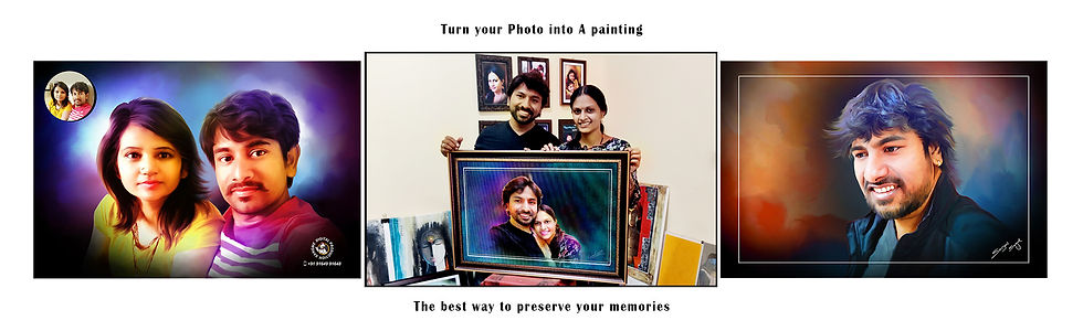 digital oil painting artist in bangalore