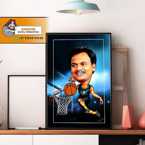 basketball playing caricature artist single caricature_28A.jpg