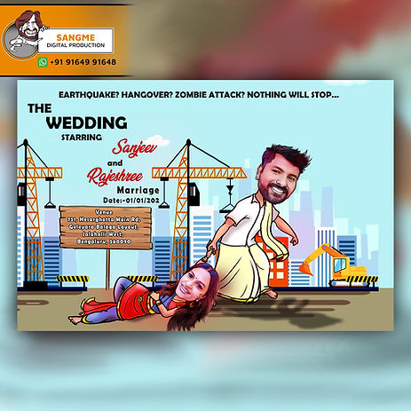 caricature wedding invitations online card artist in Bangalore | Save the date caricature card! | Caricature wedding invitations, Caricature wedding, | wedding caricature | Wedding caricature, Caricature wedding invitations, |caricature style wedding invitation .jpg