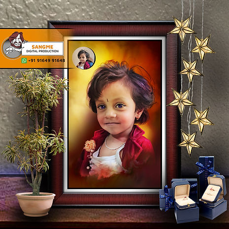 Digital Oil Painting | personalized digital painting | Customised Oil Painted Photo Frame | Personalized Gift Digital Painting Portrait Made by Real Artists from Photo | Personalized Photo to Art Transformations | Customized Advanced Digital Art Painting - Best for Gifting & Room Decorations | Custom Digital Portrait Painting | digital painting jpgdigital painting.jpg