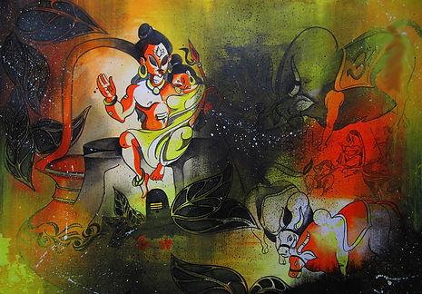 2 wall painting artist art artwork paint