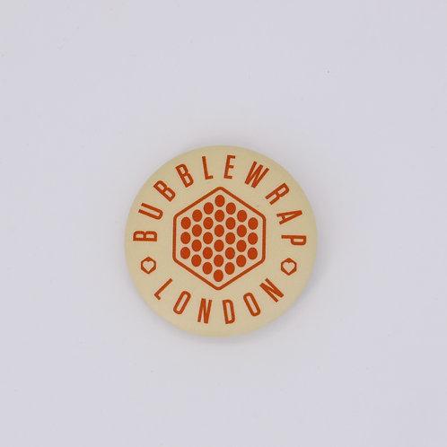 Button Badge - Red Hexagon logo