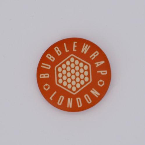 Button Badge - Grey Hexagon logo