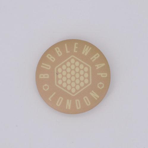 Button Badge - Beige