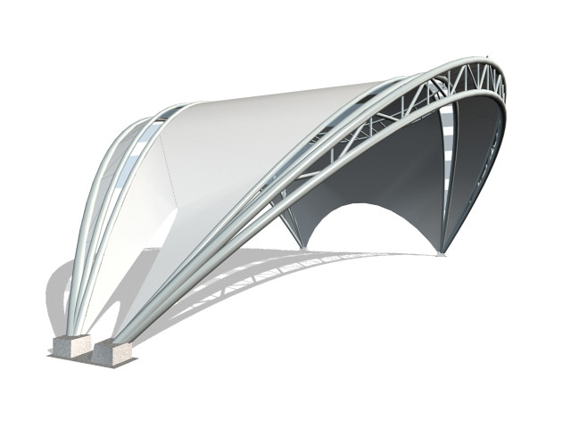 PVDF Tensile Structure Planing & Designing
