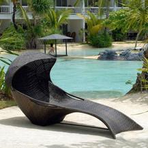 Outdoor Wicker Sun Lounger - Mermaid