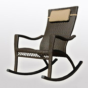 Outdoor Wicker - Rocking Chair - Water