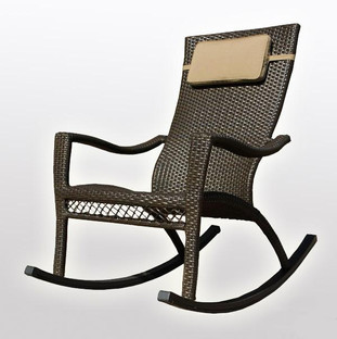 Outdoor Wicker - Rocking Chair - Water