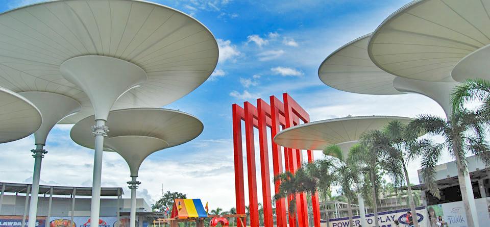 PVDF Tensile Conical Architecture