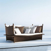 Outdoor Wicker Couch - Exotica