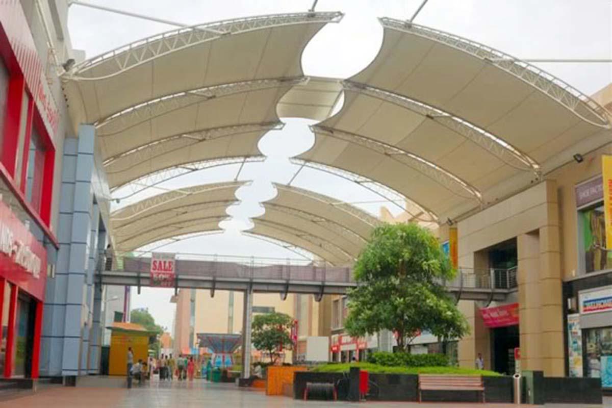 PVDF Tensile Mall Atrium