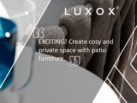 EXCITING! Create cosy and private space with patio furniture.