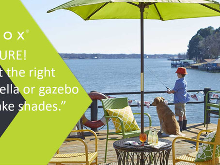 BE SURE! Select the right umbrella or gazebo to make shades.