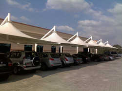SUSPENDED CONE TENSILE PARKING