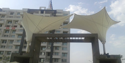 Tensile Inverted Cone Gate Way