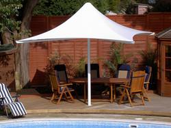 Tensile Umbrella Cafeteria Shade
