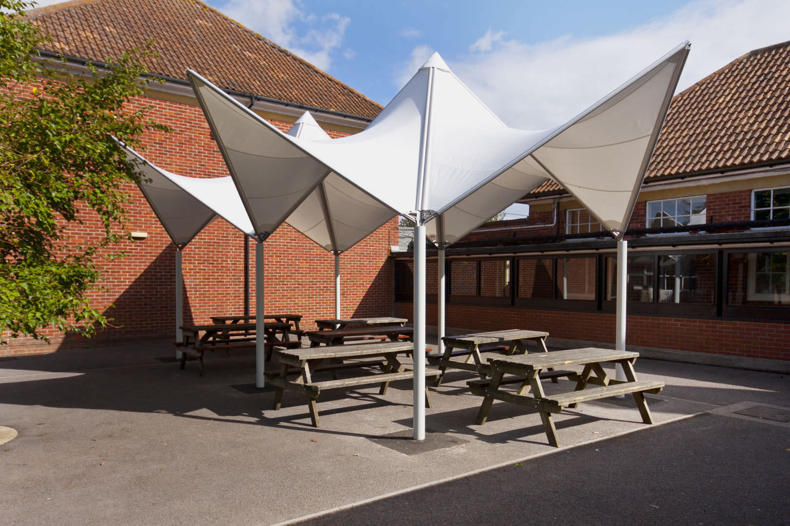 Tensile Cafeteria Shade