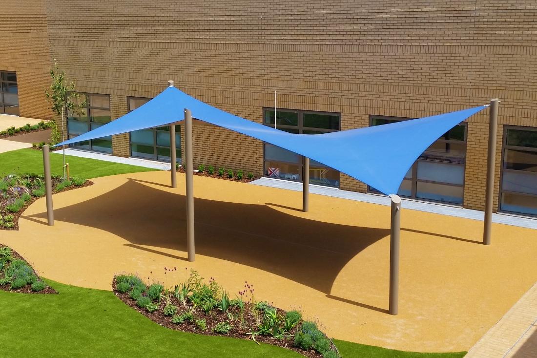 PVDF Tensile Membrane Park Shade