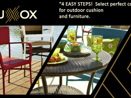 4 EASY STEPS!  Select perfect colours for outdoor cushion and furniture.