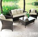 Outdoor Furniture - Wicker Sofa - Autumn