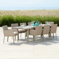 Outdoor Fully Upholstered Dining Set