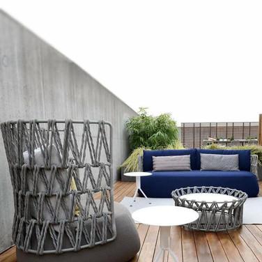 Outdoor Braided & Rope Sofa - Deneme